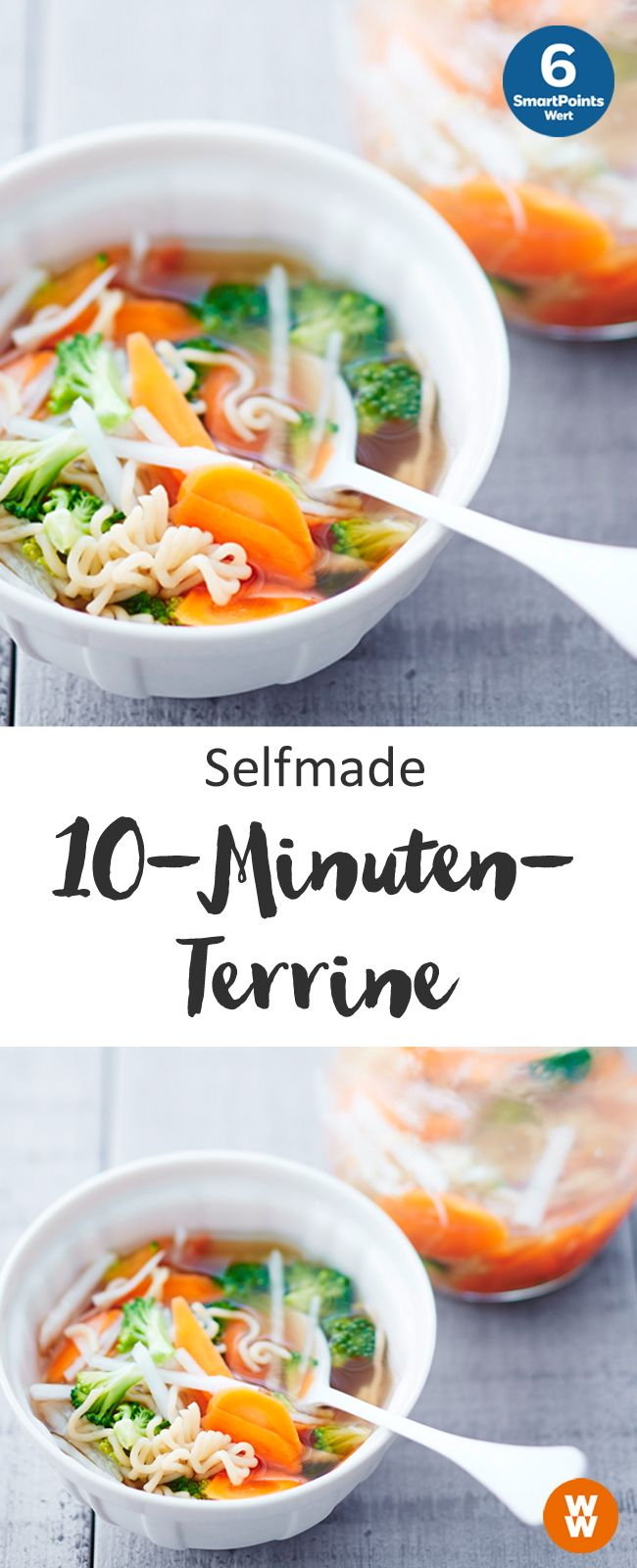 Selfmade-10-Minuten-Terrine, 6 SmartPoints/Portion, Suppe, Weight Watchers, fertig in 15 min.