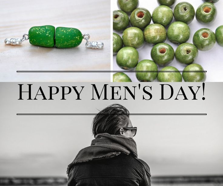Happy Men's Day!  Gentlemen can also express themselves through beads. Here are 2 examples - handmade barrel fastener with silver-sterling and beads from wood.