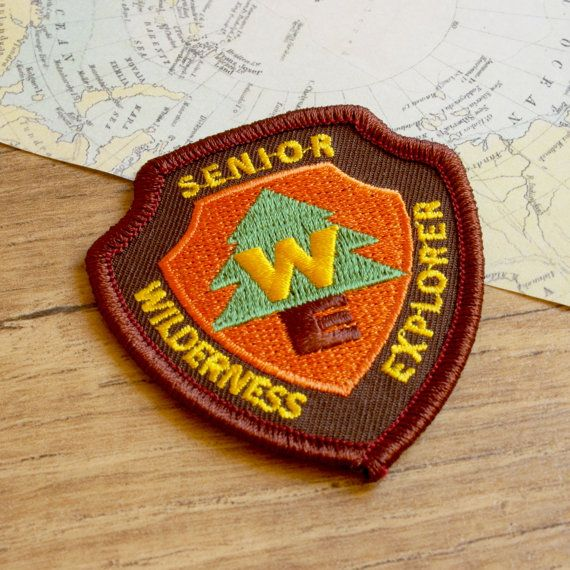 Senior Wilderness Explorer Iron On Patch  by JessicaScissorhands