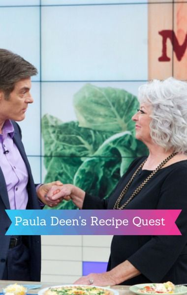 Dr Oz talked to Paula Deen about her diabetes diagnosis and her new app Paula Deen Recipe Quest. http://www.recapo.com/dr-oz/dr-oz-news/dr-oz-paula-deen-diabetes-recipe-quest-app/