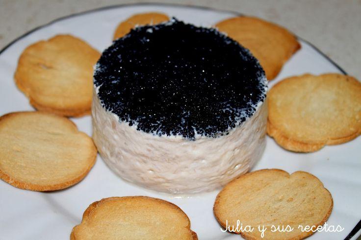 aperitivos, entrantes, atún, huevas, Julia y sus recetas, pastel salado