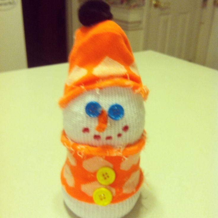 Sock snowman | preschool crafts | Pinterest