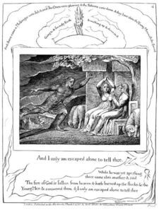 The messengers tell job of his misfortunes 1 - (William Blake)