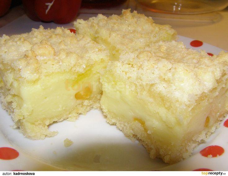 Z mouky, cukru, vajíčka, prášku do pečiva a rozpuštěného másla uděláme drobenku ( žmolenku ) Z mléka, pudinku a cukru uvaříme hustý pudink. Do...