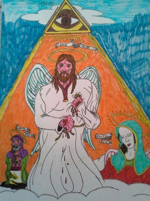 Fadern (ögat), Sonen, Helige ande och jungfru Maria.