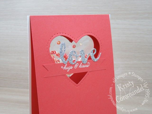 Cut through three (3) layers of card stock to create a window shaker card with a difference.