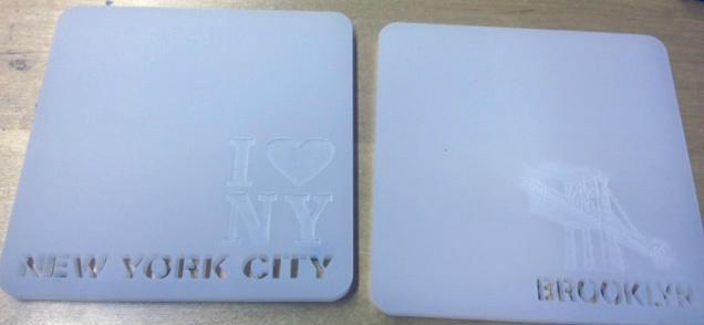 Customized Laser Cut Coasters