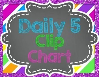 This is a clip chart to use in accordance with the Daily 5. If you haven't read the books you should do so because they are so insightful! This chart is more or less to help organize your daily 5 rotations where students have a magnet or clothespin with their