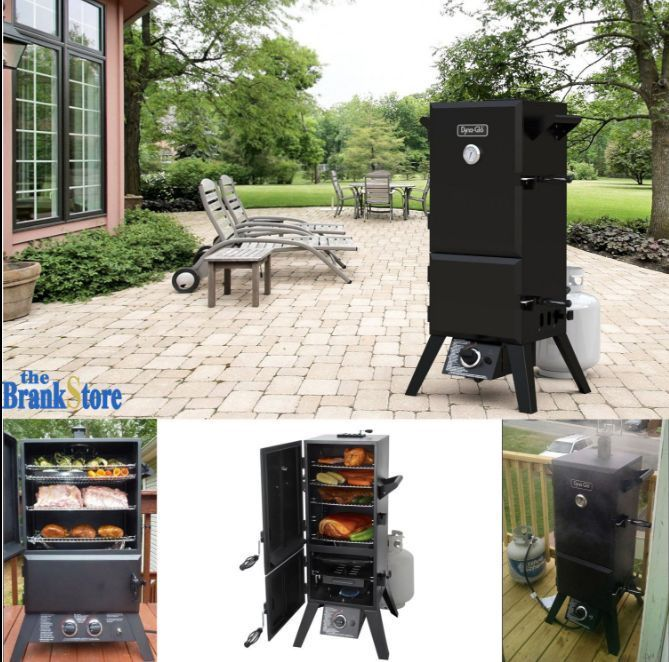 Propane Smoker Vertical Meat Smokehouse Great Outdoors Charbroil BBQ Wood Chips
