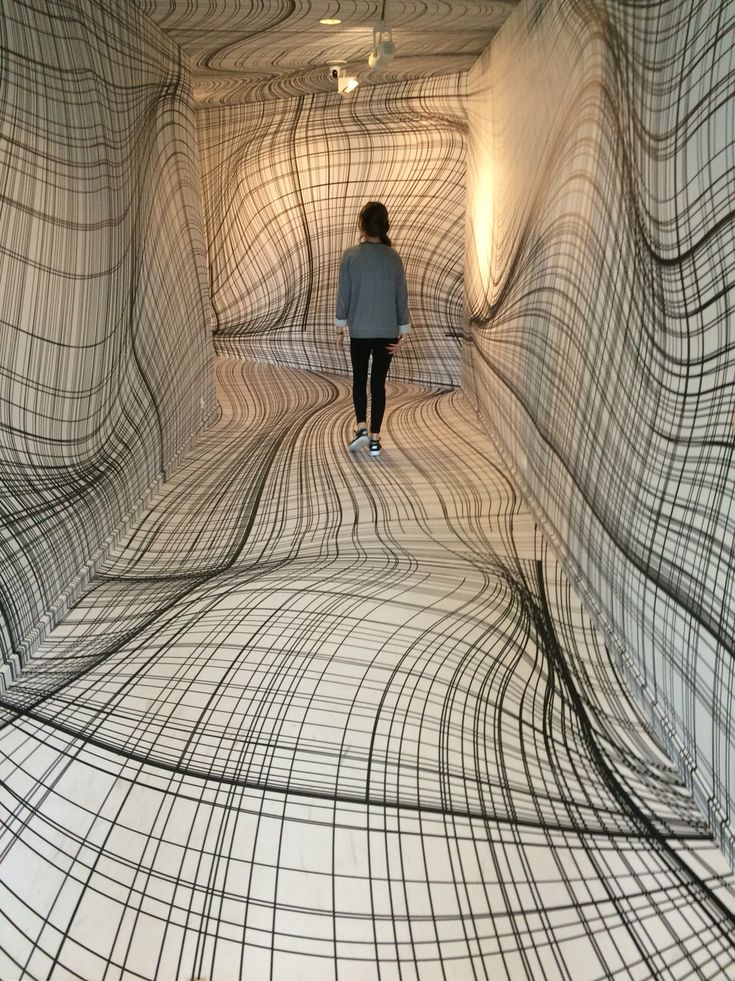 "Peter Kogler ""Next"", ING Art Center, Brussel."