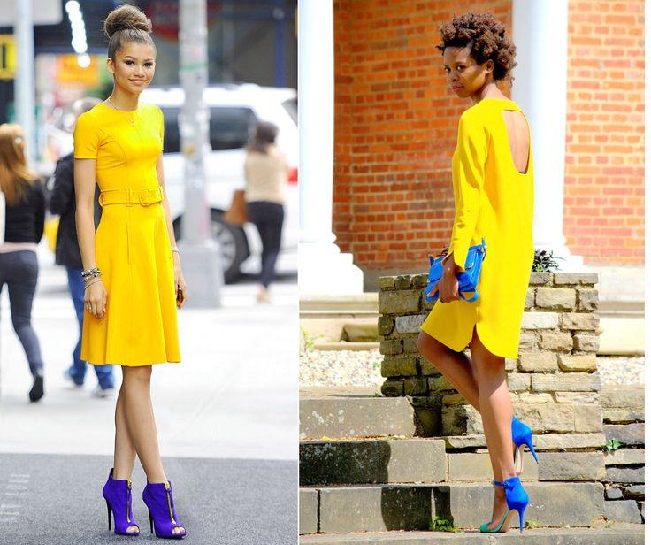 Blue is a great color to be combined with yellow. It brings a contrast and it cools down the shiny pop of yellow. This is a refreshing combination for summer day. Did you notice that not many people wear yellow color? Do you have at least 1 yellow piece in your closet? ‪#‎outfit‬ ‪#‎fashion‬ ‪#‎yellow‬ ‪#‎blue‬