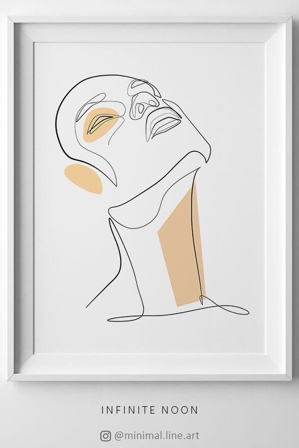 One Line Drawing Face Illustration – Sunshine-every-day