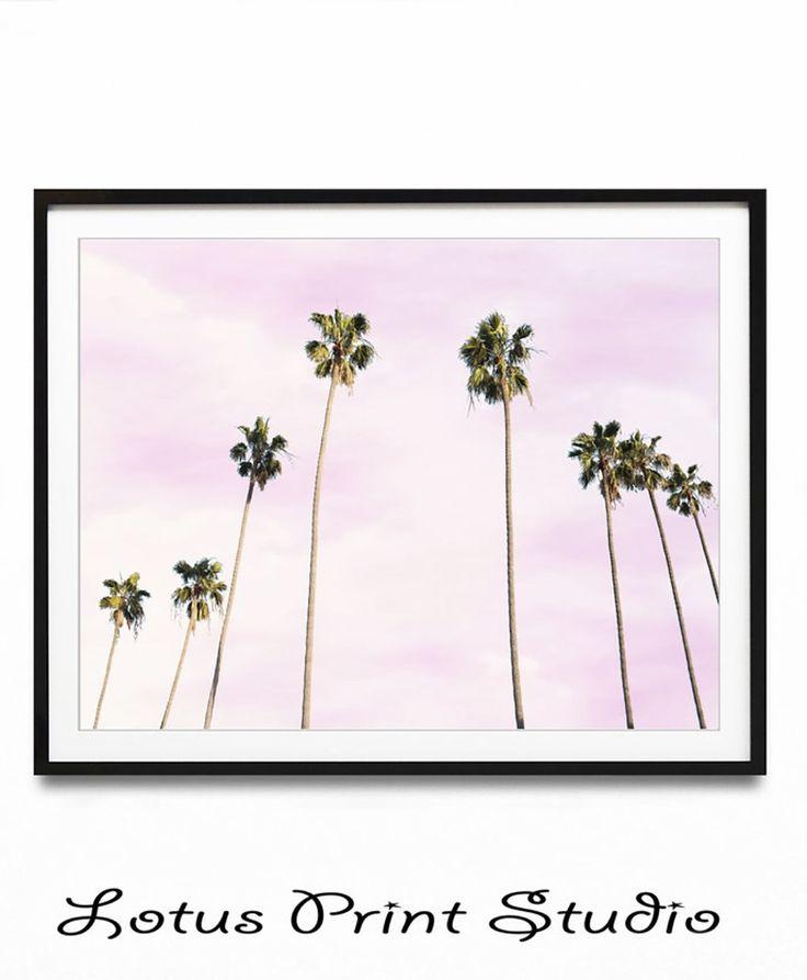 Sunset Print, Palm Tree Wall Print, DIGITAL DOWNLOAD, Pink Blush Wall Print, Beach Wall Art, Beach Print, California Wall Art, #505