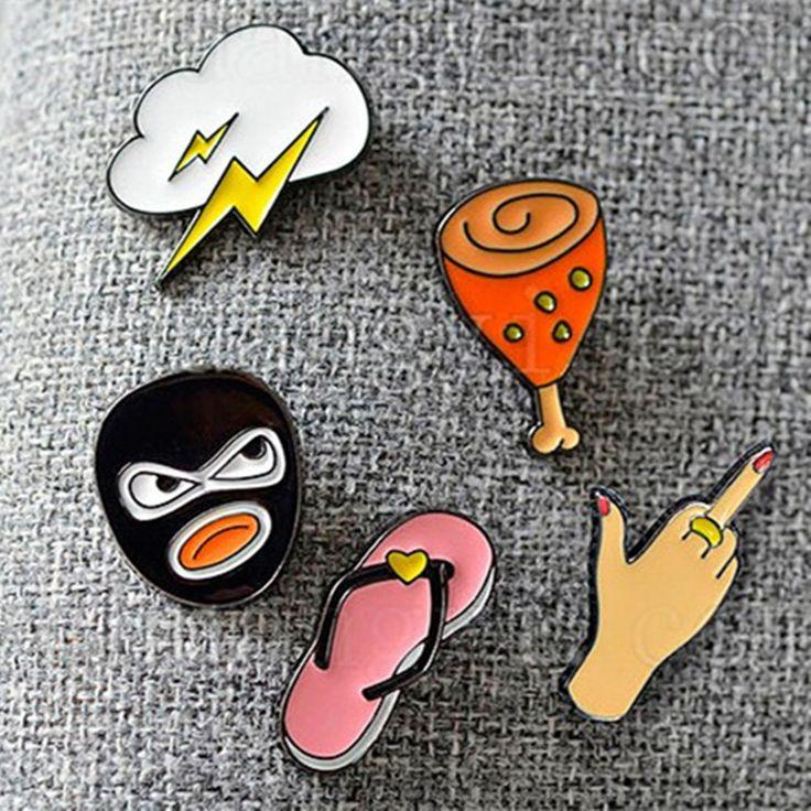 Envío libre Por Encargo estilo fashion lovely girl broche qu Tong deslizadores lindos de la historieta/gestos/flash/ladrón/pierna de pollo broche