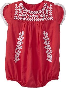 Embroidered Bubble One-Pieces for Baby | Old Navy. For this summer!