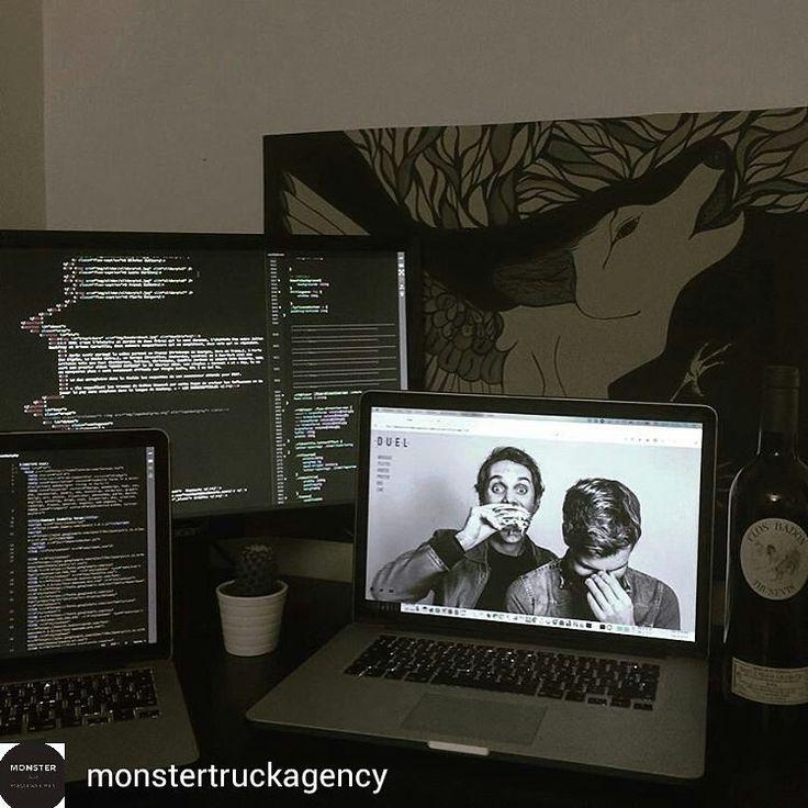 @monstertruckagency: Spending sunday with the garçons and french wine  . . . . . . #workspace #workstation #deskspace #software #technology #design #development #programmer #developer #softwaredeveloper #geek #uidesigner #webdesign #php #programming #nodejs #javascript #ios #apple #applegeek #imac #computer #setup #nerd #screen #techie #techy #techaddict