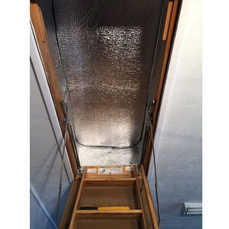 GURGLE Stair Cover Pull Down Attic Ladder Insulation Kit 25 X 54