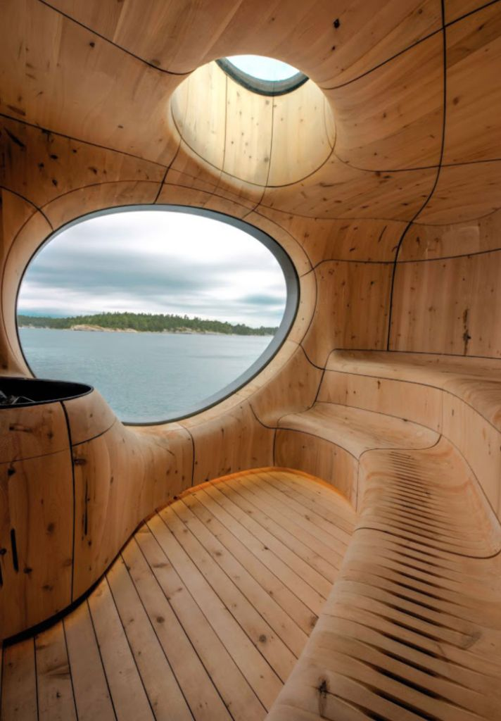 Sauna with a view