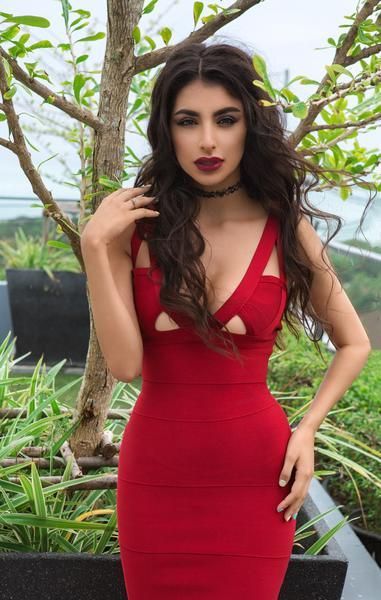 dbc0326f4b35e Our beautiful Red Mermaid Bandage Bodycon Dress is stunning and sexy. The  seductive V neck dress hugs your curves like a second skin.