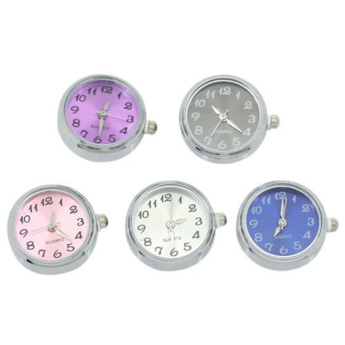 20PCS BD Watch Face Snap Click Buttons Snap Mixed Color DIY Unisex Gift