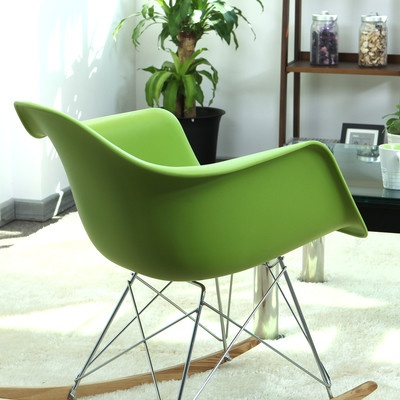 Rocking chair chaise bascule neuf design industriel for Chaise a bascule design