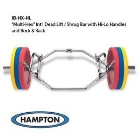 Hampton Multi Hex International Dead Lift Shrug Bar W Hi Lo Handles