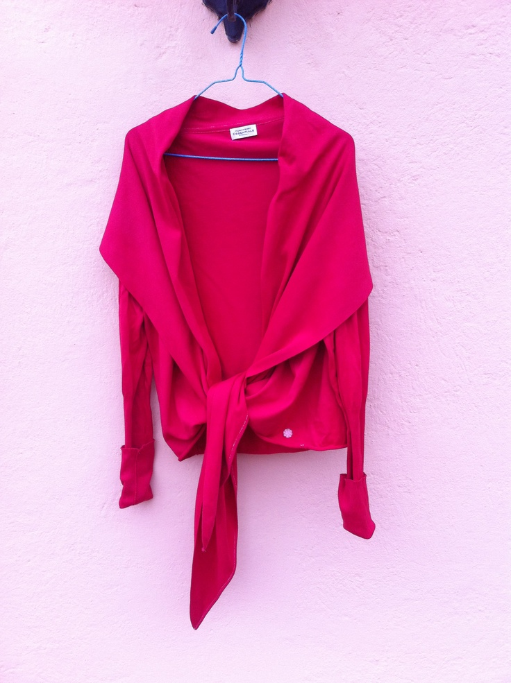 Hunkydory Essentials Stockholm peony red  sailor tie-front cardigan, 100% cotton. Size M, loose fit, worn once or twice. Color slightly darker and more muted IRL. P and p £5 UK EU. Will only swap with FF contributors. PM FrugalFashionista.