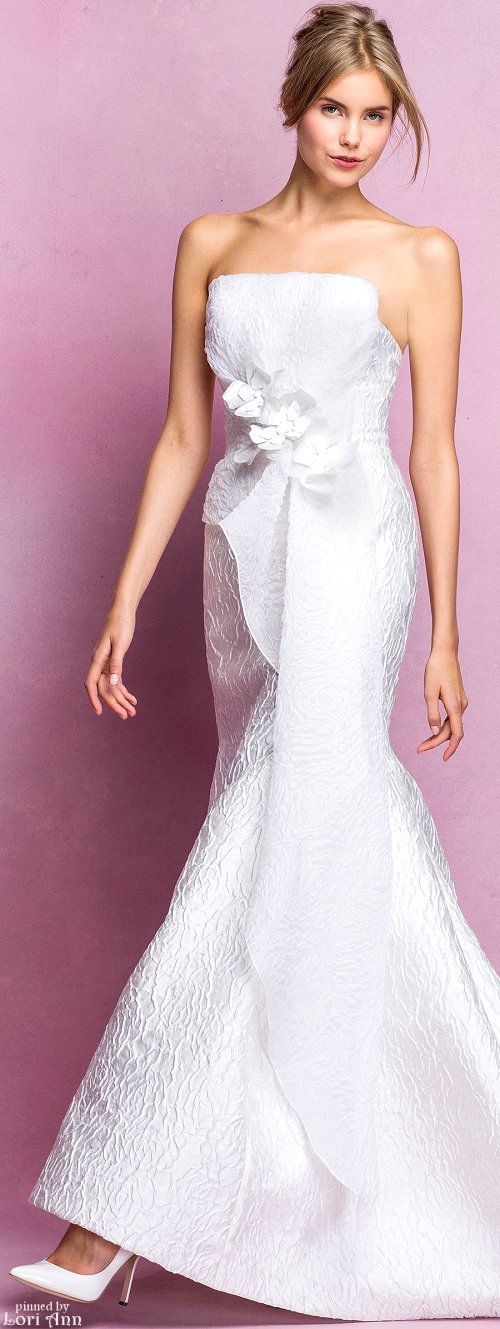 17 best images about angel sanchez on pinterest for Narciso rodriguez wedding dress collection