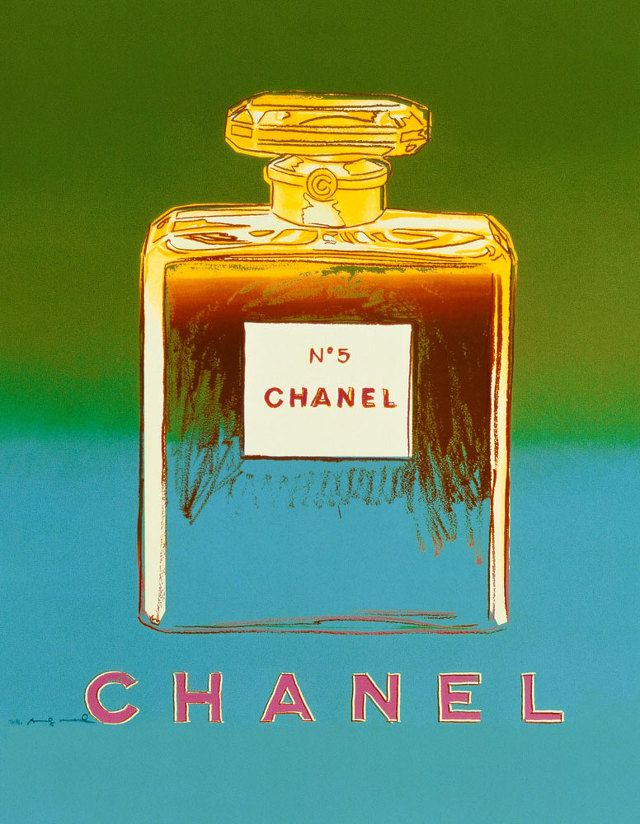 1 9 9 7- Chanel No.5 by Andy Warhol (silk-screen works).
