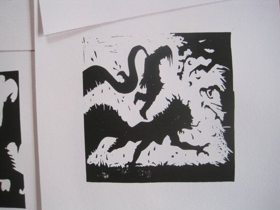 Grendel's Mothers Revenge - Silhouette Print