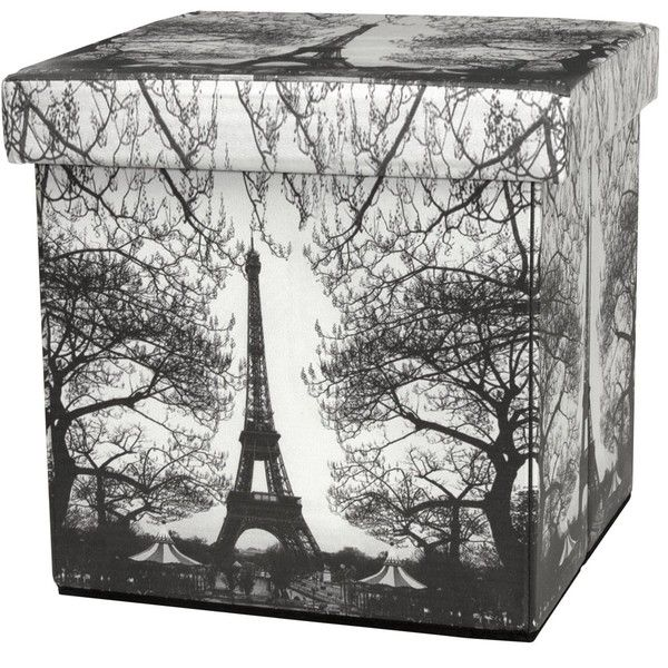 Eiffel Tower Storage Ottoman 145 Ron Liked On Polyvore Featuring Home Furniture