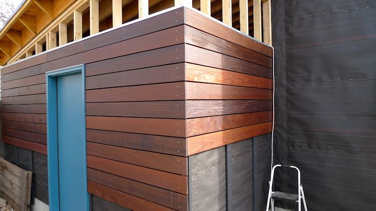Garage Build Modern Shed Roof Rain Screen Siding The