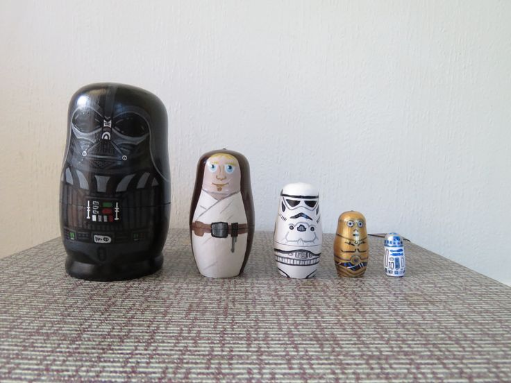 Up cycled Hand Painted Star Wars Russian dolls