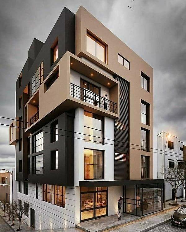 Apartment Exterior: Modern Apartment Building Follow @idreamhouse For More