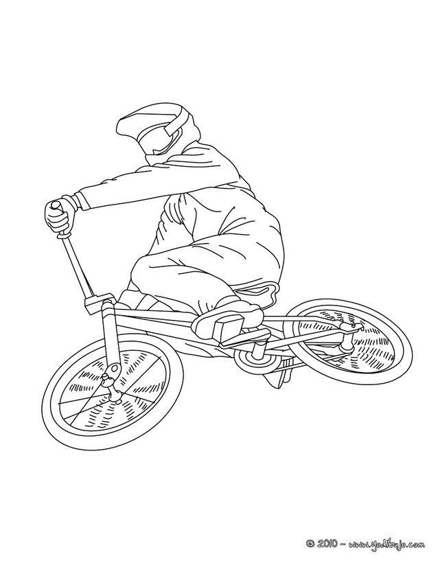 dibujo para colorear un salto en bmx imgenes para colorear pintar - Bicycle Coloring Book