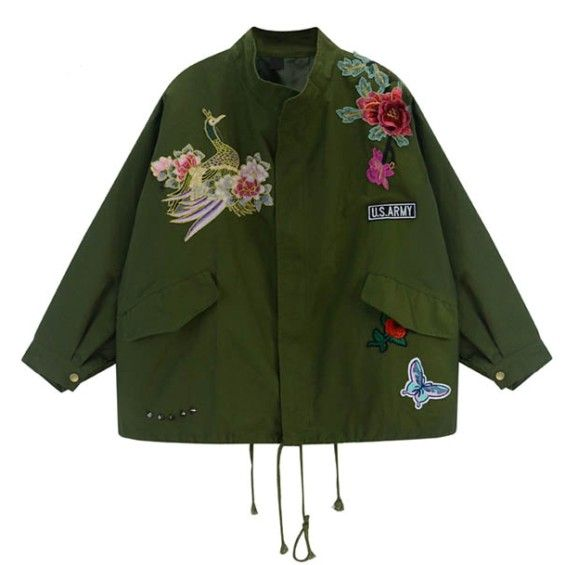 Peacock Embroidered Jacket