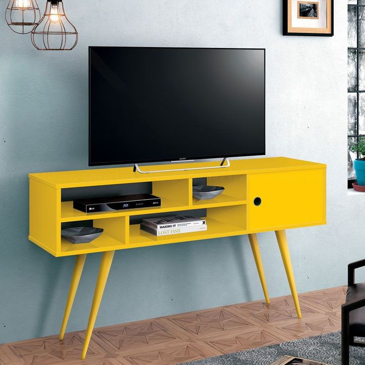 Sala De Tv Com Rack Amarelo ~ rack amarelo rack amarelo móveis vintage melhor preço moveis madeira