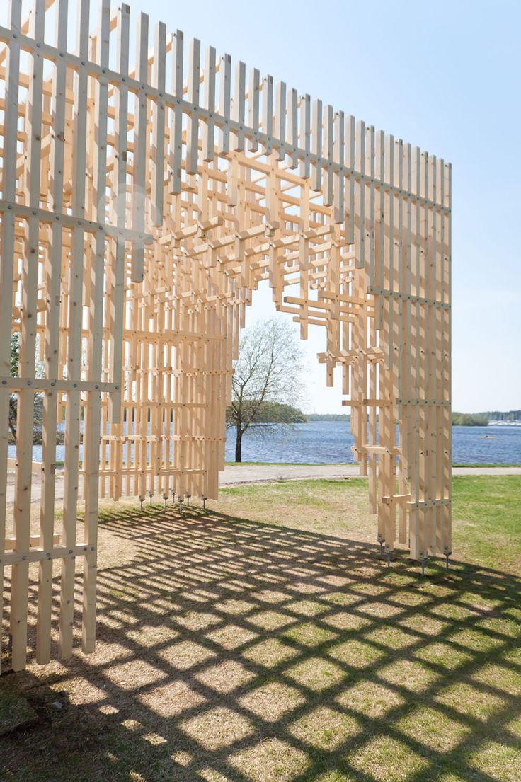 Gallery of HILA Pavilion / Digiwoodlab Project + University Of Oulu Students - 8