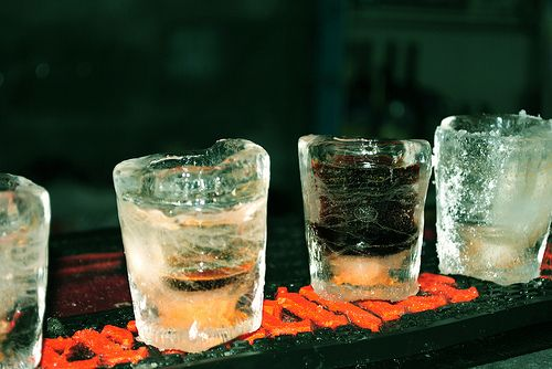 super extra ice-cold shots with tap machine served in ice shots. Caldo Wera El.Venizelou 44, New Smirni Athens Greece