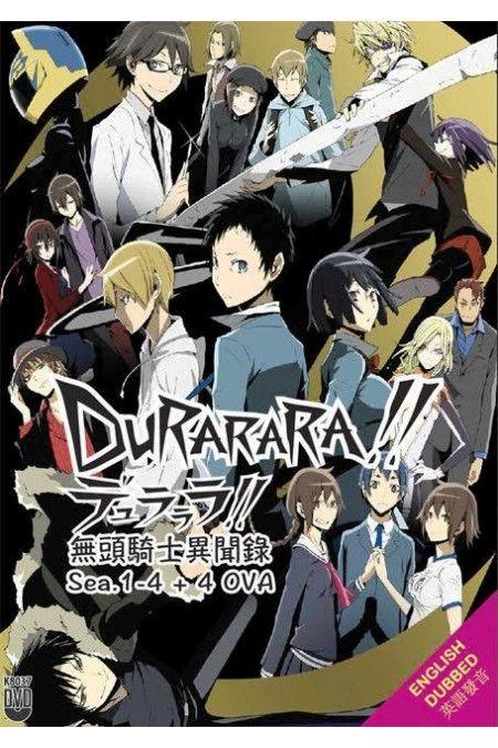 DURARARA!! / DRRR!! Season 1-4 + 4 OVA Box Set Anime DVD English Dubbed