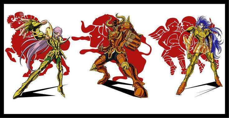 Mú, Aldebaran and Saga by Omega