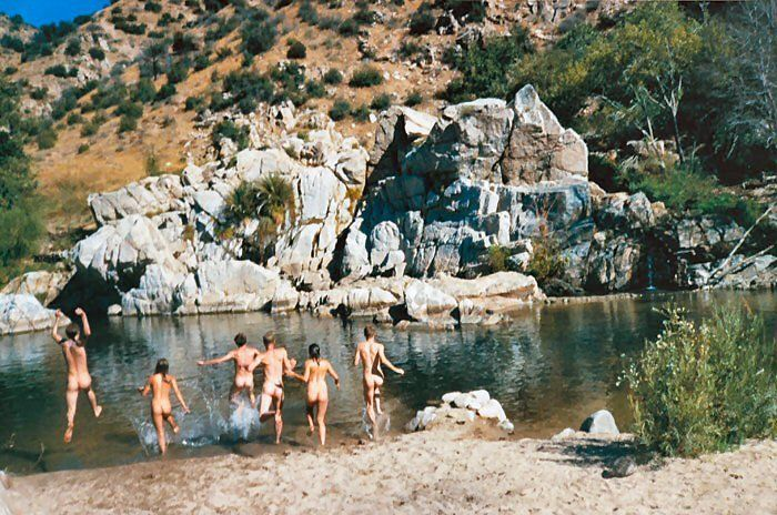 The Deep Creek Hot Springs-San Bernardino National Forest(near Hesperia)   Directions: Located in the Deep Creek drainage, outside the city of Hesperia. The easiest access is through the Bowen Ranch Road, which accesses the site through private land (a fee is charged). The trail descends steeply for 2 1/2 miles to the springs. An alternative route is to hike the Pacific Crest Trail east from Arrowhead Lake Road, roughly a six mile hike.   Bonus: Clothing is optional ;)