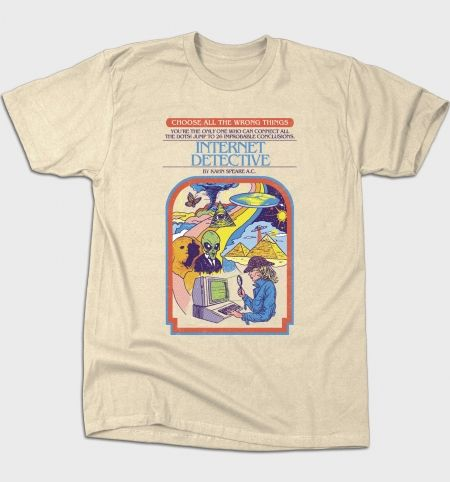 Internet Detective T-Shirt - Choose Your Own Adventure T-Shirt is $12 today at Busted Tees!