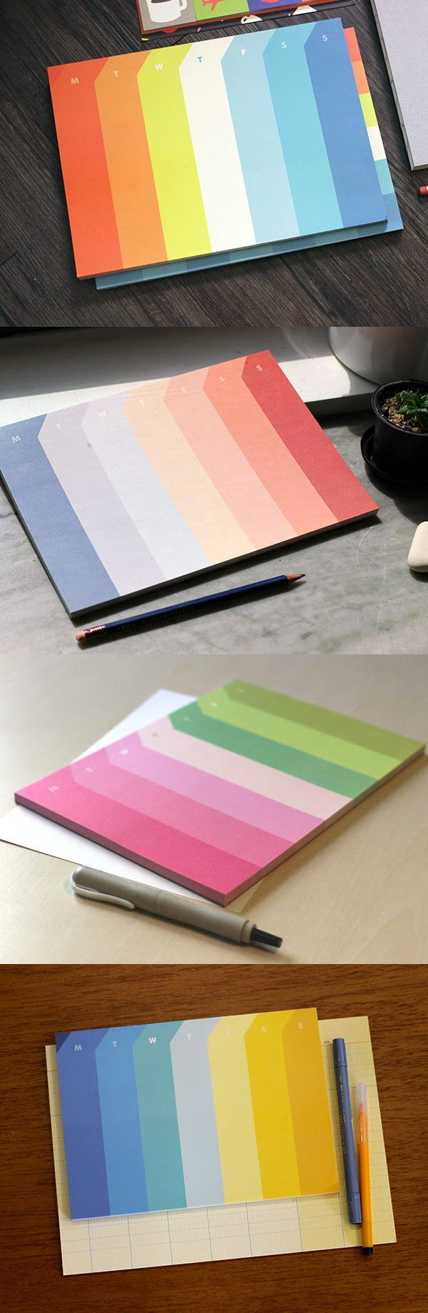 Plan with all the colors of the rainbow with the Palette Weekly Notepad! This beauty comes in 4 styles featuring unique color palettes inspired by movies. It can be used as a weekly planner or as a regular notepad. The beautiful colors and minimalistic design make this an absolute must-have for stationery lovers, so check it out!