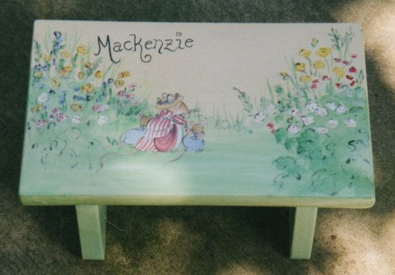 garder mice step stool personalized kids step stools hand