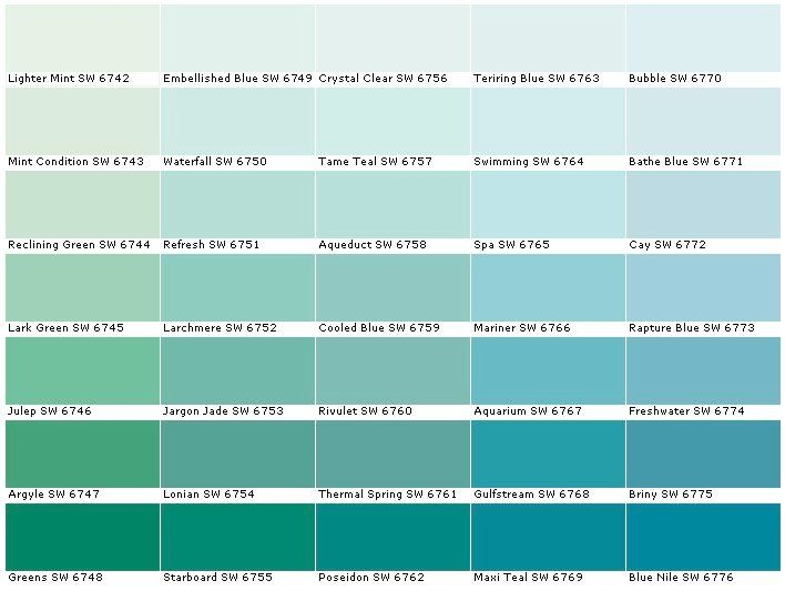 Teal Paint Colors Sherwin Williams