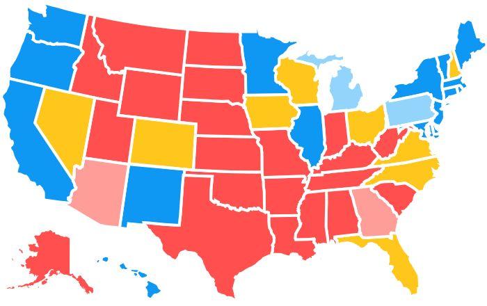 2016 Electoral Map (Interactive)