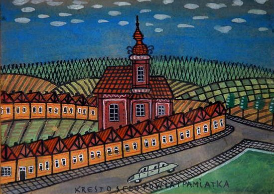 Auto przed cerkiewką