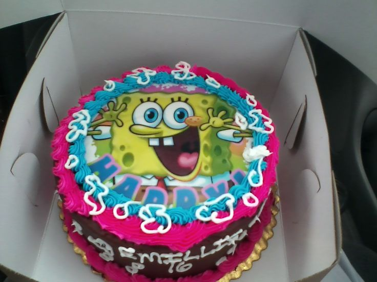 spongebob birthday cake I love the hot pink for a girl!!