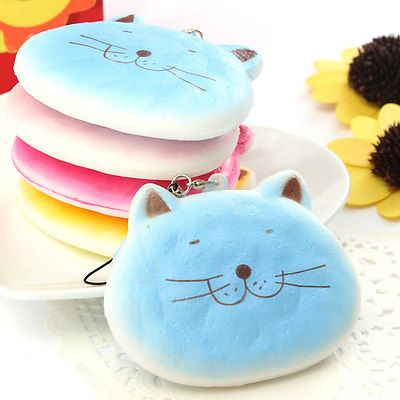 1pc-Cute-Soft-Cartoon-Fat-Cat-Squishy-Cell-Phone-Charms-Straps-Scent-Key-Chain keychain ...